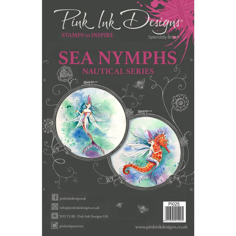 CREATIVE EXPRESSIONS CLEAR STAMPS A5 PINK INK DESIGNS SEA NYMPHS (HAS TO BE ORDERED)