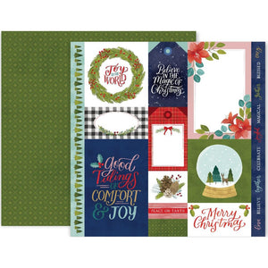 "PINK PAISLEE TOGETHER FOR CHRISTMAS 12""X12"" DOUBLE SIDED PAPER (IN STOCK)"