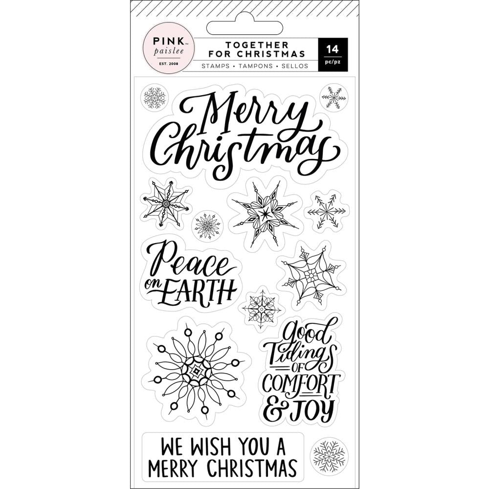 PINK PAISLEE TOGETHER FOR CHRISTMAS CLEAR STAMPS (IN STOCK)