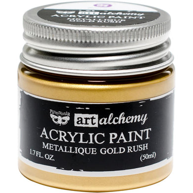 PRIMA ACRYLIC PAINT METALLIQUE GOLD RUSH (IN STOCK)