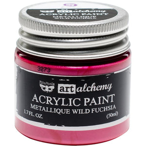 PRIMA ACRYLIC PAINT METALLIQUE WILD FUCHSIA (HAS TO BE ORDERED)