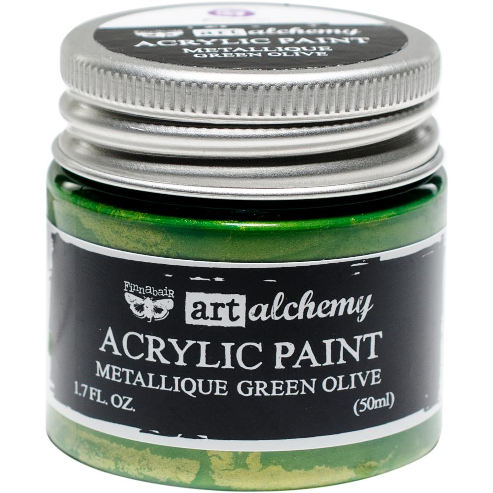 PRIMA ACRYLIC PAINT METALLIQUE GREEN OLIVE (HAS TO BE ORDERED)