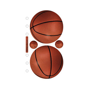 EK SUCCESS STICKOS STICKER EMBELLISHMENTS BASKETBALL (HAS TO BE ORDERED)