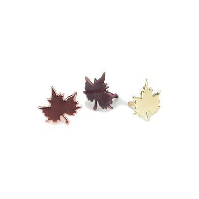 CREATIVE IMPRESSIONS BRADS ANTIQUE ASSORTED MAPLE LEAF (IN STOCK)