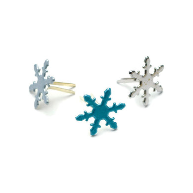 CREATIVE IMPRESSIONS BRADS PEARL SNOWFLAKES (IN STOCK)