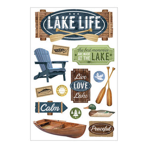 PAPER HOUSE 3D STICKER EMBELLISHMENTS LAKE LIFE (HAS TO BE ORDERED)