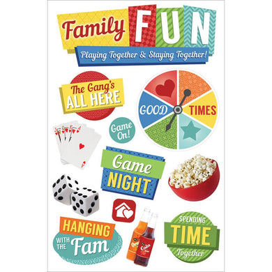 PAPER HOUSE 3D STICKER EMBELLISHMENTS FAMILY FUN (HAS TO BE ORDERED)