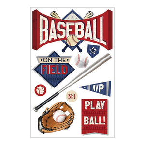 PAPER HOUSE 3D STICKER EMBELLISHMENTS BASEBALL BATTER UP (HAS TO BE ORDERED)