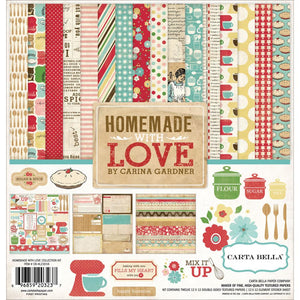 "CARTA BELLA HOMEMADE WITH LOVE 12""X12"" COLLECTION PACK (HAS TO BE ORDERED)"