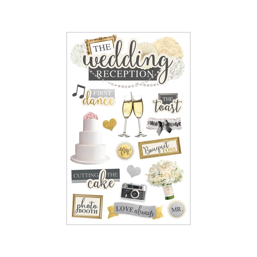 PAPER HOUSE 3D STICKER EMBELLISHMENTS WEDDING RECEPTION (HAS TO BE ORDERED)