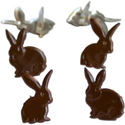 EYELET OUTLET BRADS CHOCOLATE BUNNY (IN STOCK)