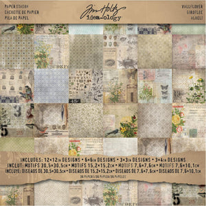 "TIM HOLTZ IDEA-OLOGY PAPER STASH WALLFLOWER 12""X12"" (HAS TO BE ORDERED)"