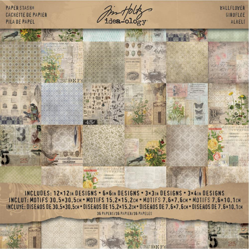 TIM HOLTZ IDEA-OLOGY PAPER STASH WALLFLOWER 12