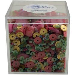 BUTTONS GALORE LILAC LANE SHAKER MIX ROSE GARDEN (IN STOCK)