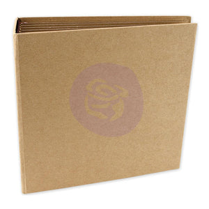 "PRIMA MEMORY HARDWARE CHIPBOARD ALBUM 6.5""X6.75"" KRAFT SQUARE (HAS TO BE ORDERED)"
