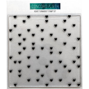 "CONCORD & 9TH 6""X6"" TURNABOUT STAMP HEART (HAS TO BE ORDERED)"