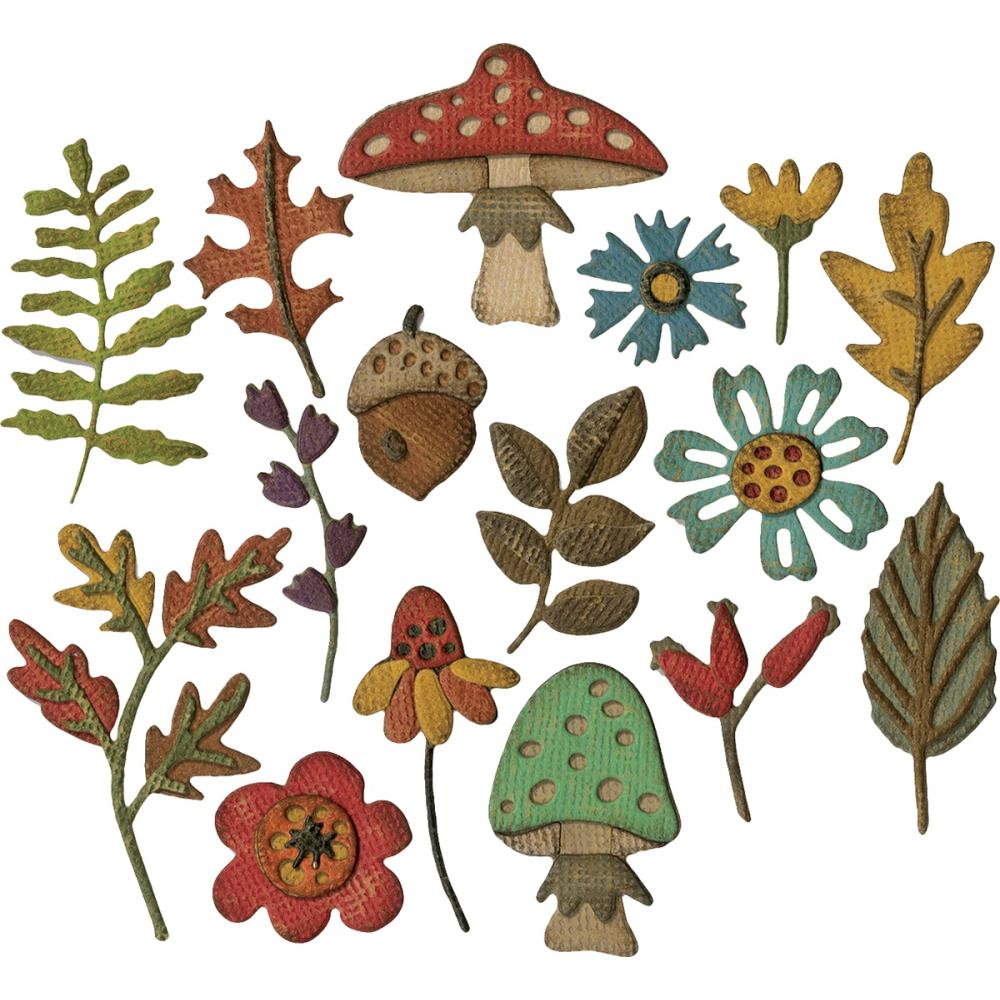 TIM HOLTZ METAL DIE CUTS THINLITS FUNKY FOLIAGE (HAS TO BE ORDERED)
