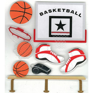 EK SUCCESS JOLEE'S STICKER EMBELLISHMENTS BASKETBALL (HAS TO BE ORDERED)