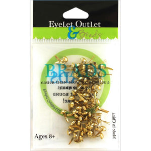 EYELET OUTLET 4 MM ROUND BRADS GOLD (HAS TO BE ORDERED)