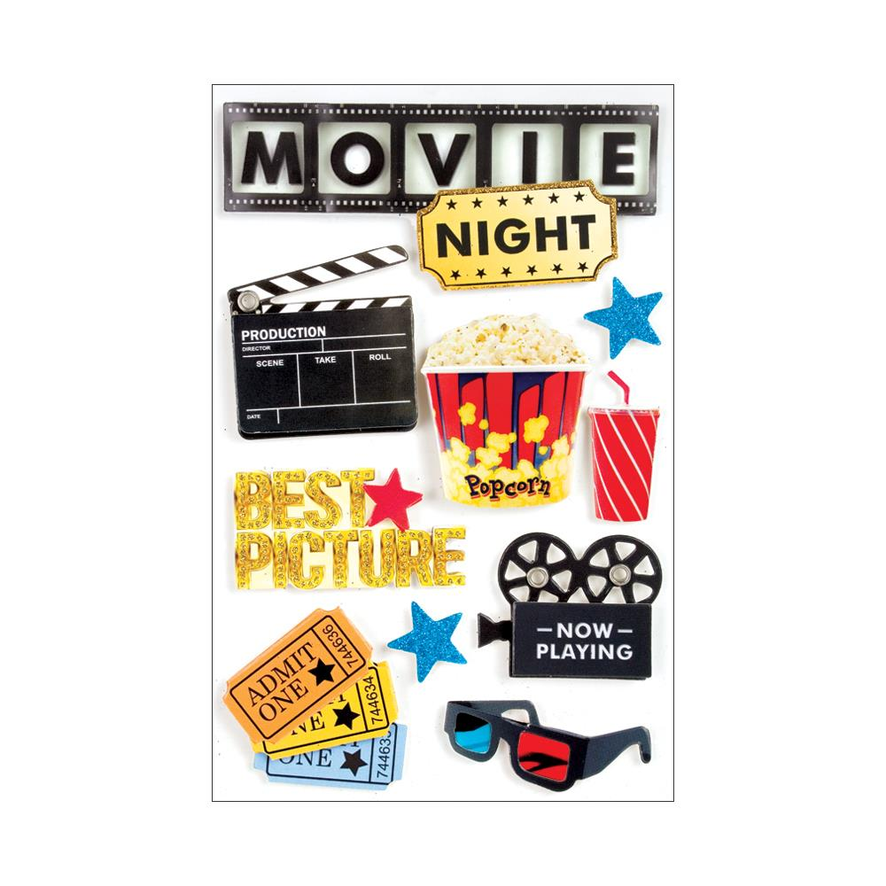 PAPER HOUSE 3D STICKER EMBELLISHMENTS MOVIE NIGHT (HAS TO BE ORDERED)