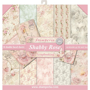"STAMPERIA 12""X12"" PAPER PACK ""SHABBY ROSE"" (HAS TO ORDERED)"