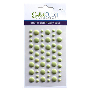 EYELET OUTLET ENAMEL DOTS MATTE GREEN (HAS TO BE ORDERED)