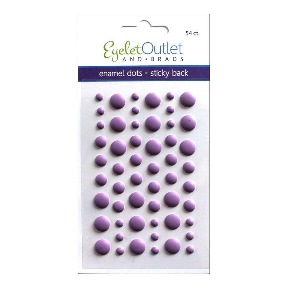 EYELET OUTLET ENAMEL DOTS MATTE VIOLET (IN STOCK)