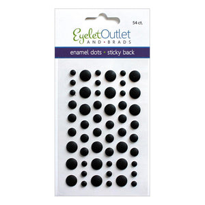 EYELET OUTLET ENAMEL DOTS MATTE BLACK (HAS TO BE ORDERED)