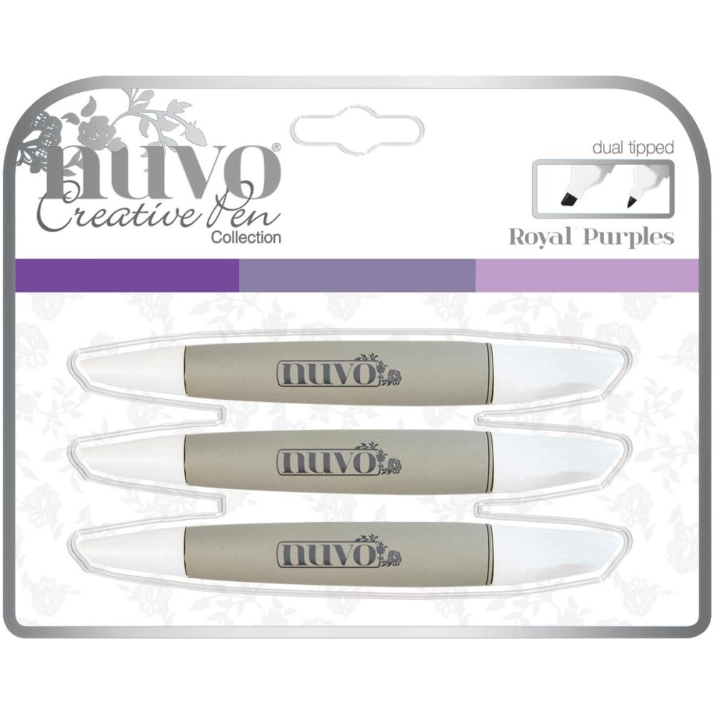 NUVO CREATIVE PENS ALCOHOL MARKERS ROYAL PURPLES (CLEARANCE)