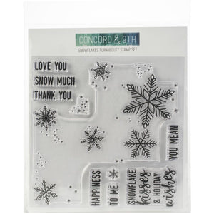 "CONCORD & 9TH 6""X6"" TURNABOUT STAMP SNOWFLAKES (HAS TO BE ORDERED)"
