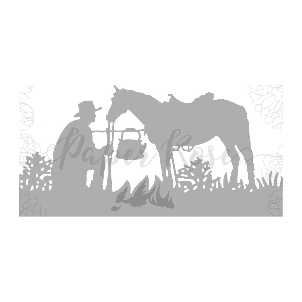 PAPER ROSES METAL DIE CUT STOCKMAN WITH HORSE (IN STOCK)