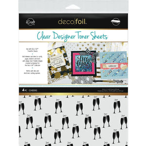 "ICRAFT DECO FOIL CLEAR TONER SHEETS""CHEERS"" (IN STOCK)"