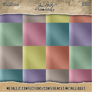"TIM HOLTZ IDEA-OLOGY PAPER STASH METALLIC CONFECTIONS 8""X8"" (HAS TO BE ORDERED)"