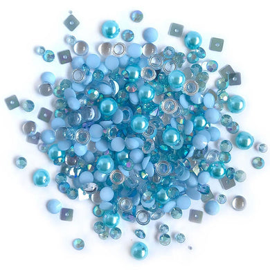 BUTTONS GALORE SPARKLETZ EMBELLISHMENTS OCEAN WAVES (IN STOCK)