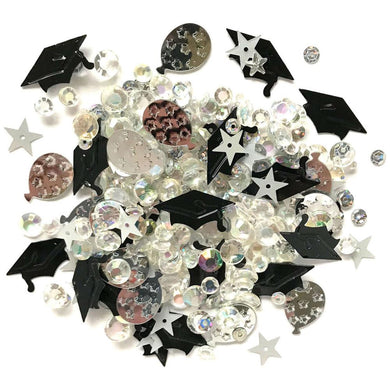 BUTTONS GALORE SPARKLETZ EMBELLISHMENTS COMMENCEMENT (IN STOCK)