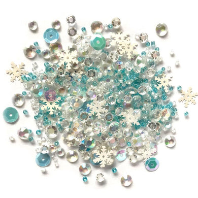 BUTTONS GALORE SPARKLETZ EMBELLISHMENTS SNOW CRYSTALS (HAS TO BE ORDERED)
