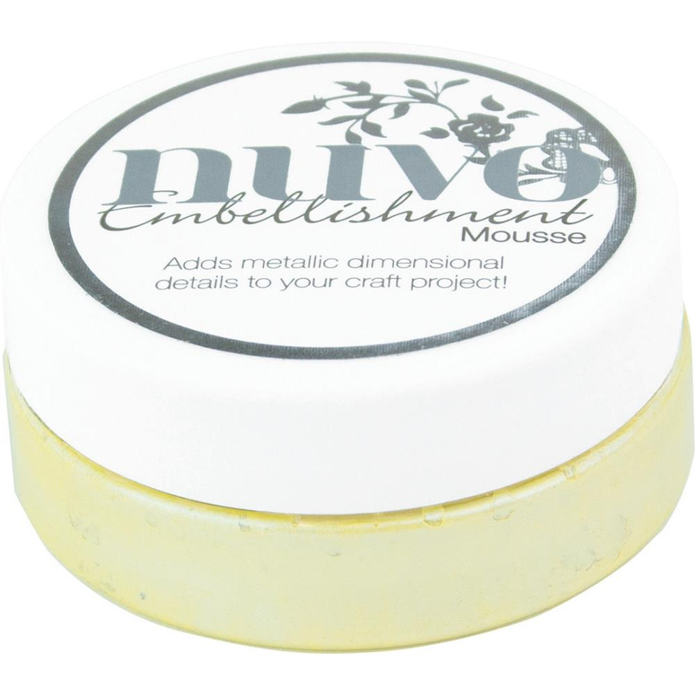 NUVO EMBELLISHMENT EMBOSSING TEXTURE MOUSSE LEMON SORBET (CLEARANCE)