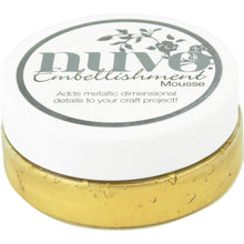 Load image into Gallery viewer, NUVO EMBELLISHMENT EMBOSSING TEXTURE MOUSSE INDIAN GOLD (IN STOCK)