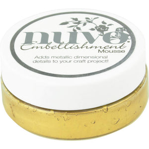NUVO EMBELLISHMENT EMBOSSING TEXTURE MOUSSE INDIAN GOLD (IN STOCK)