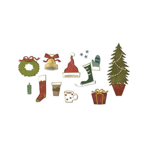 TIM HOLTZ METAL DIE CUTS THINLITS FESTIVE THINGS (HAS TO BE ORDERED)