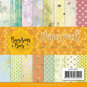 "FIND IT TRADING JEANINE'S ART 6""X6"" PAPER PACK BUZZING BEES (IN STOCK)"