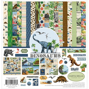 "CARTA BELLA DINOSAURS 12'""X12"" COLLECTION PACK (HAS TO BE ORDERED)"