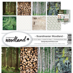 "REMINISCE 12""X12"" COLLECTION PACK SCANDINAVIAN WOODLAND (HAS TO BE ORDERED)"