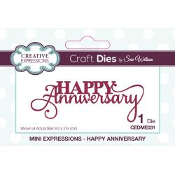 CREATIVE EXPRESSIONS METAL DIE CUT MINI EXPRESSIONS HAPPY ANNIVERSARY (IN STOCK)
