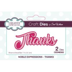 CREATIVE EXPRESSIONS METAL DIE CUT THANKS LAYERED (IN STOCK)