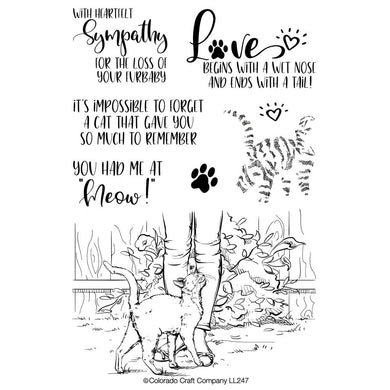 COLORADO CRAFT COMPANY CLEAR STAMPS YOU HAD ME AT MEOW LOVELY LEGS (HAS TO BE ORDERED)