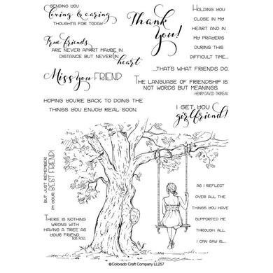 COLORADO CRAFT COMPANY CLEAR STAMPS REFLECTION TREE LOVELY LEGS (HAS TO BE ORDERED)