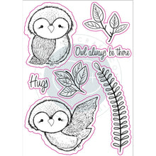 Load image into Gallery viewer, CRAFT CONSORTIUM OVER THE HEDGE CLEAR STAMPS OLIVIA THE OWL (IN STOCK)