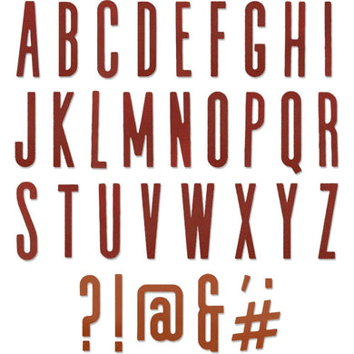 TIM HOLTZ METAL DIE CUTS THINLITS ALPHANUMERIC CLASSIC UPPER (HAS TO BE ORDERED)