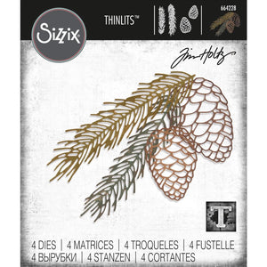 TIM HOLTZ METAL DIE CUTS THINLITS PINE BRANCH (HAS TO BE ORDERED)